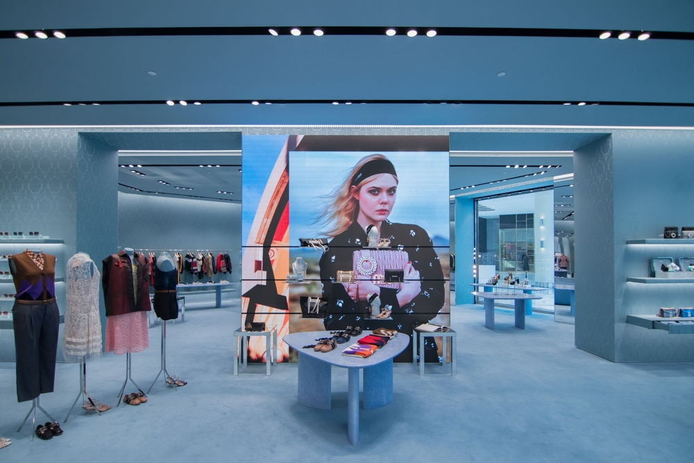 Miu miu store concept at The Dubai Mall