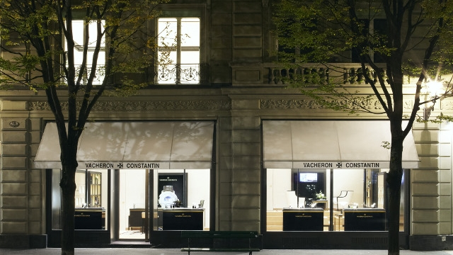 Vacheron Constantin boutique layout in Lucerne