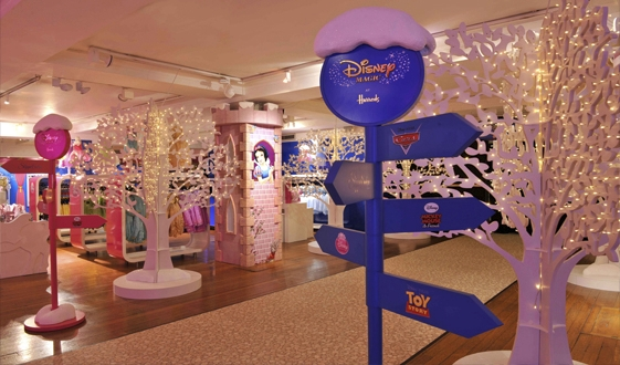 Disney pop-up boutique in Harrods