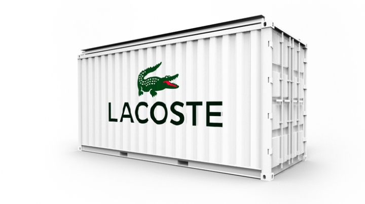 LACOSTE  POP-UP  shipping container shop