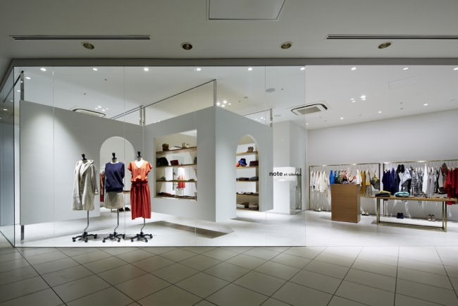"note et silence"" Retail shop design in Kobe, Japan"