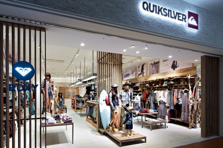 Quiksilver Store made by retail architecture team Specialnormal