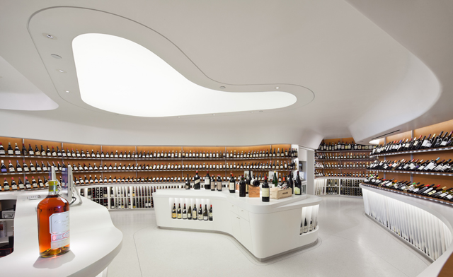 Vintry Fine Wines - custom made corian store fixtures