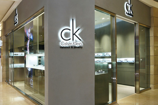 Calvin Klein Watches and Jewelry store design in Taiwan made by Cipriani Associati