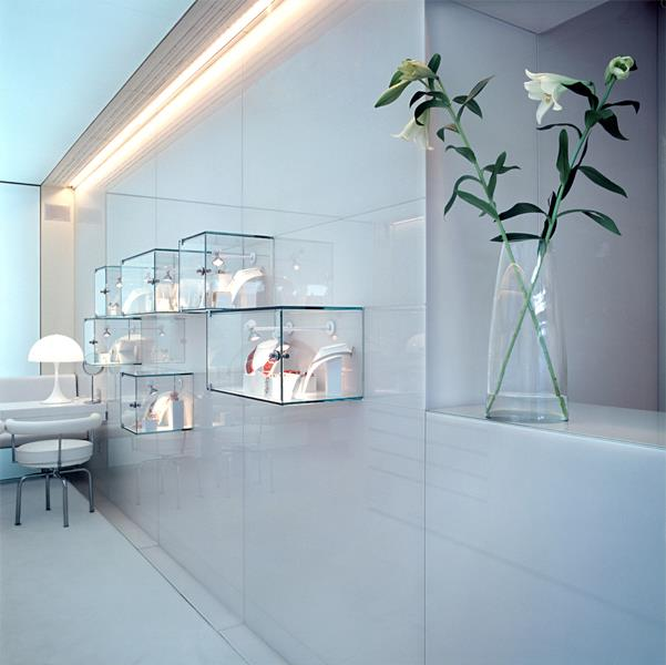 Anima jeweller's shop minimalist shop interior
