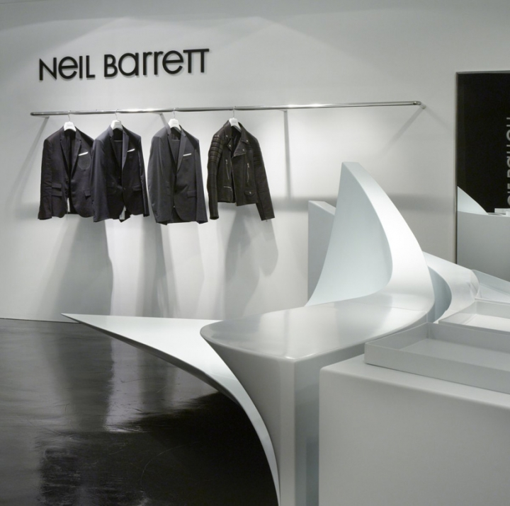 Zaha Hadid: Shop in Shop concept for Neil Barrett in Seoul