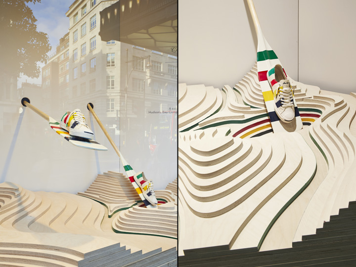 Hudson's Bay Company x Converse window at Selfridges by HarrimanSteel, London