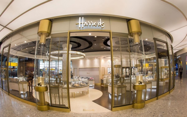 Harrods Fine Watch Room space at London Heathrow Terminal 2