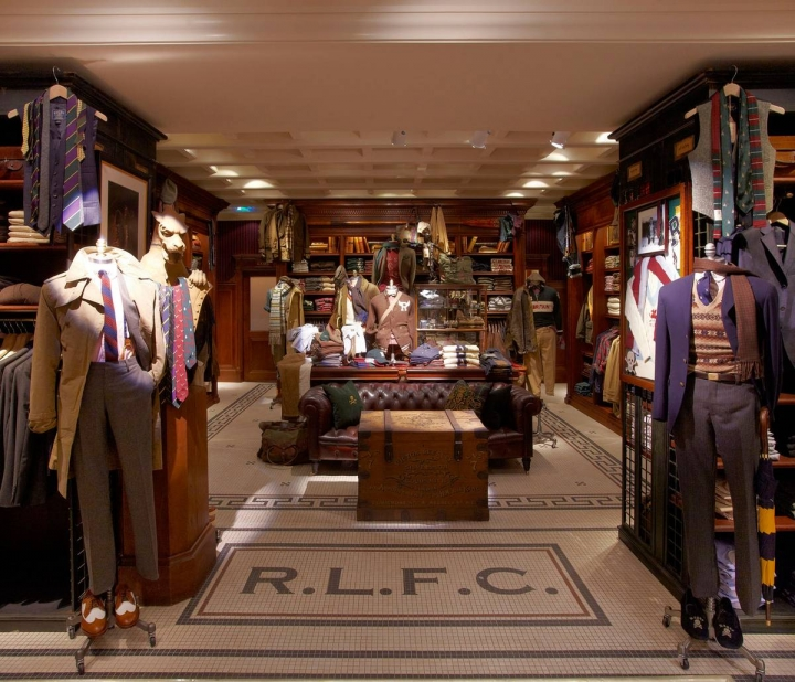 Rugby store Ralph Lauren, Covent Garden, London by MNA ARCHITECTS