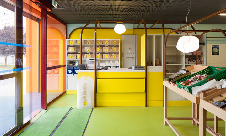 mini M grocery shop by Matali Crasset & Praline