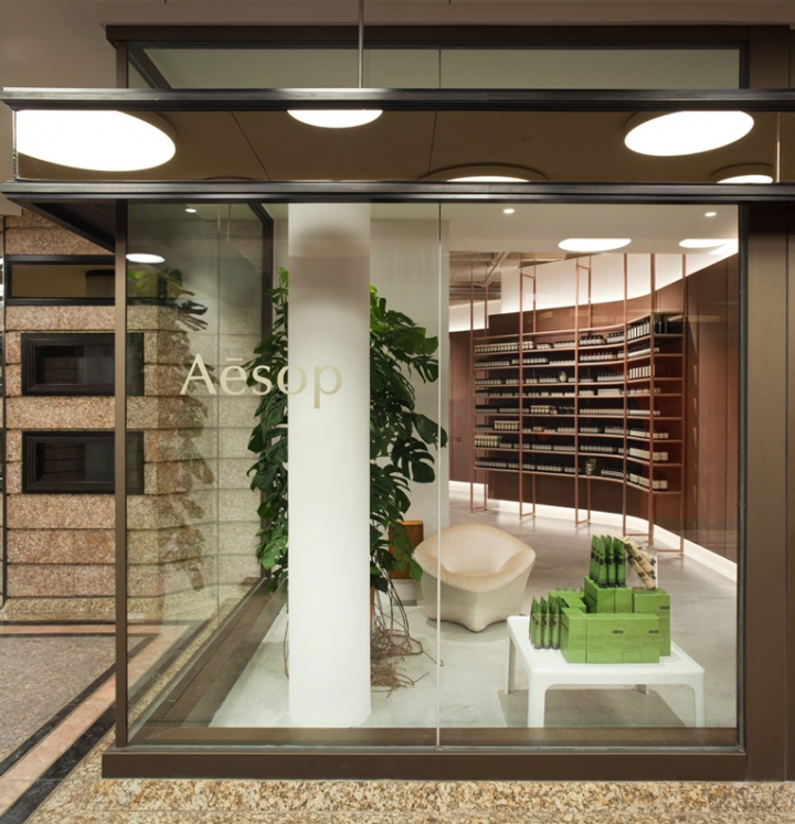Aesop store design by Einszu33 in Munchen