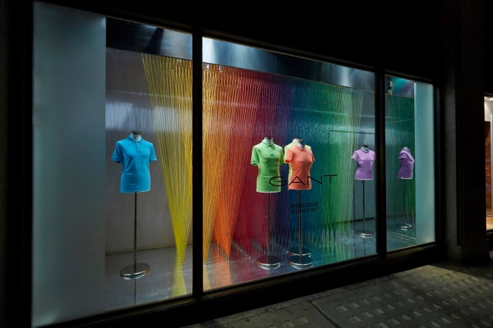 Gant window display The Art of Colour by Harlequin Design