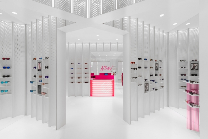 N3ON eyewear boutique designed by Linehouse studio