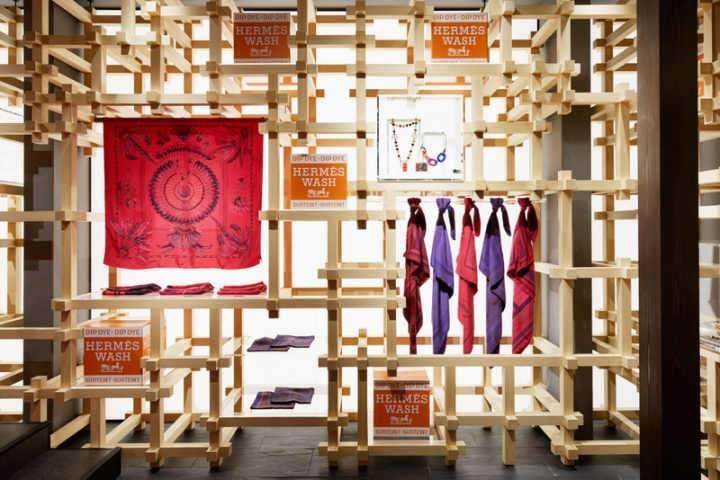 Hermes Pop-Up Shop in Kyoto by Nendo