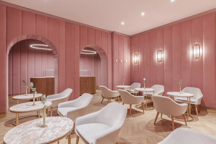 Nanan french patisserie in Wrocław city designed by BUCK.STUDIO