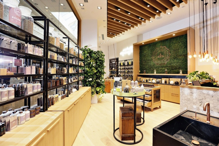Saje Natural Wellness store by Jennifer Dunn Design
