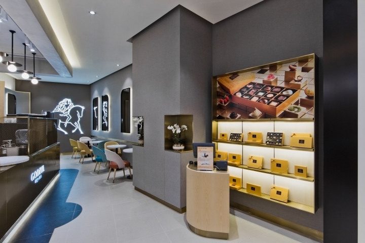 Godiva chocolate brand openes a store in Hong Kong