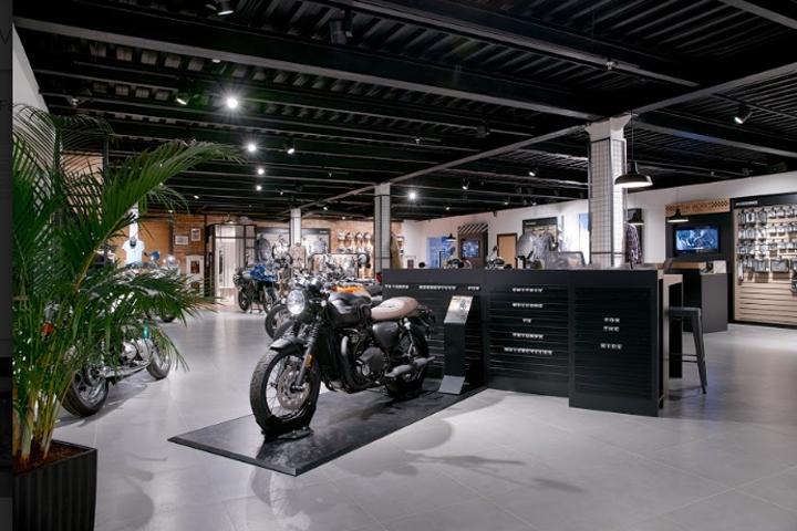Triumph motorcycle store by Alex Feskov, Moscow – Russia