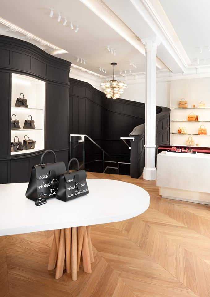 Delvaux fine leather goods boutique by Vudafieri Saverino Partners