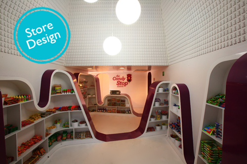 Candy Stop beautiful store design by ROW Studio
