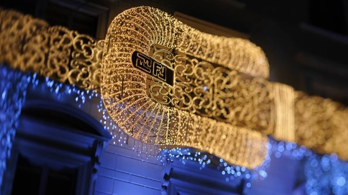 Palazzo FENDI christmas shop decoration 2012
