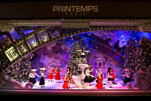 Printemps Paris windows display 2012 Christmas