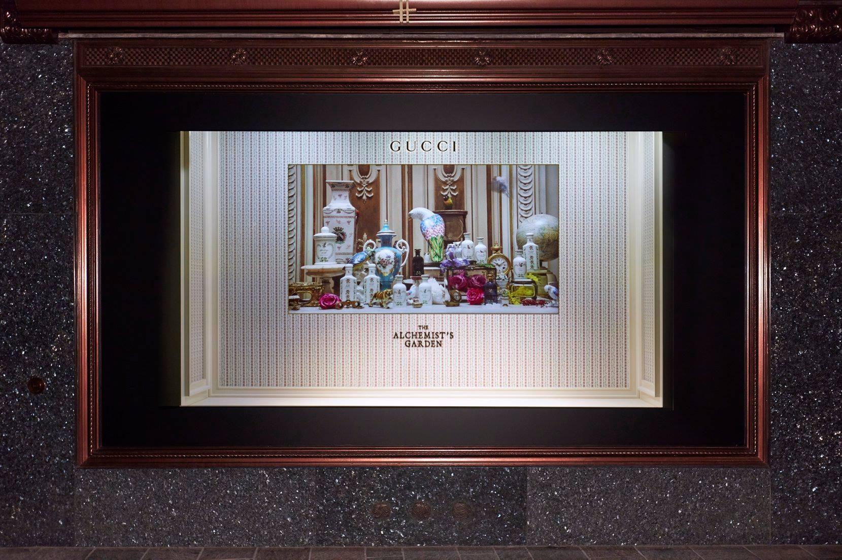 Gucci shop window at Harrods - The Alchemist Garden