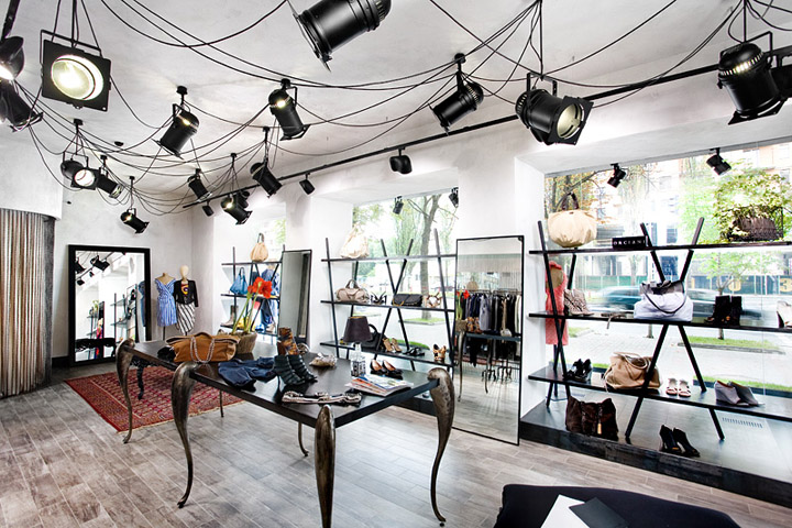 Belenko studio's Invoga multibrand store layout