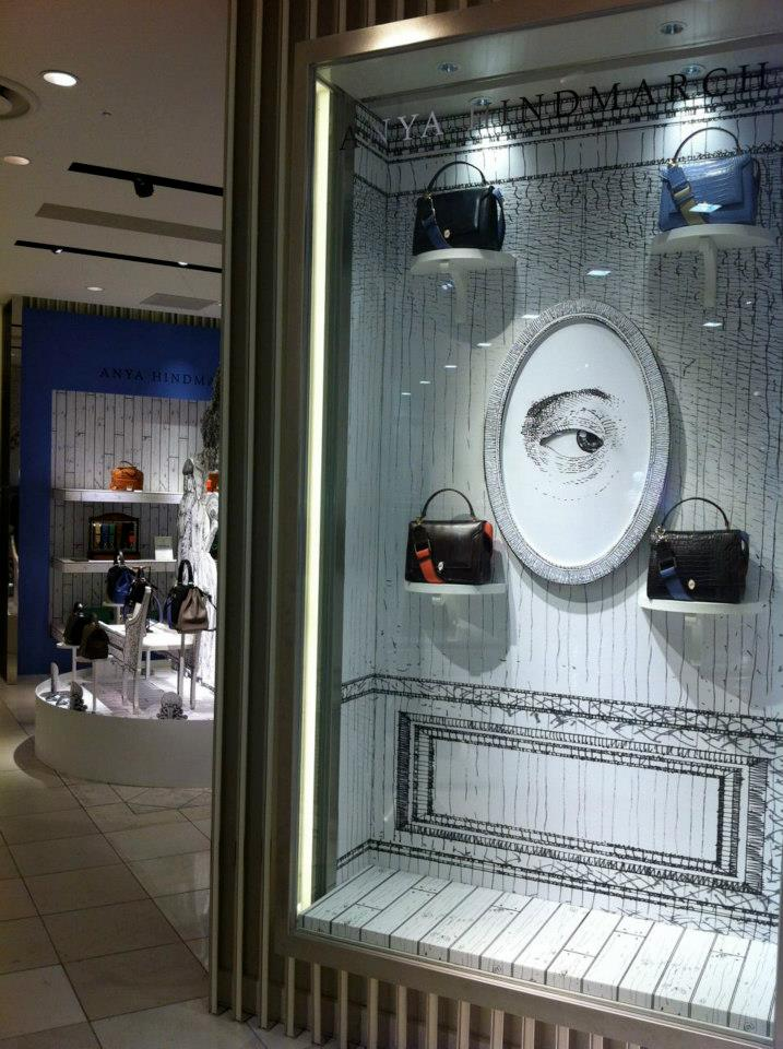 "Anya Hindmarch ""Pomp & Pleasure""-  visual merchandising and in-store displays"