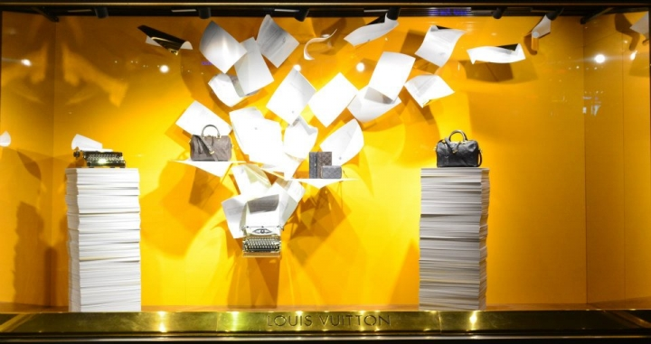 LOUIS VUITTON shop windows display Germany