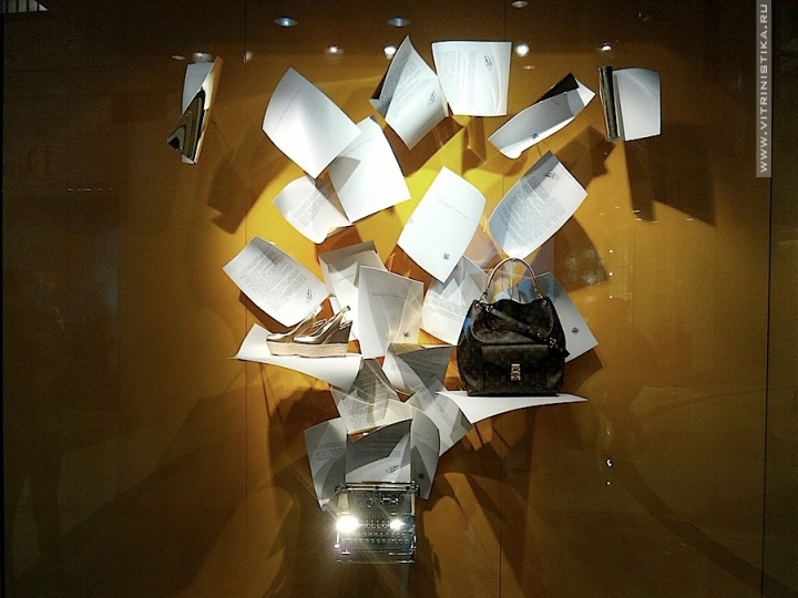 Luis Vuitton shop windows display in Plaza Senayan (Jakarta)