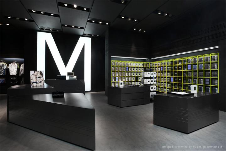 UM men's underwear futuristic store design  Shenzhen