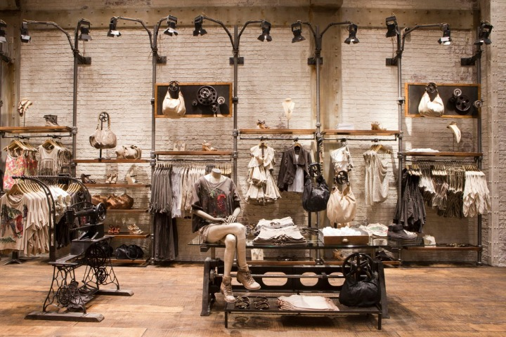 AllSaints Spitalfields industrial interior design Chicago