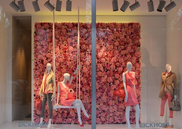 EICKHOFF spring shop windows Düsseldorf, Germany
