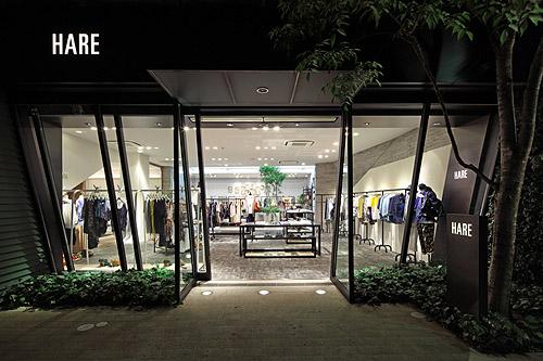 HARE Daimyo shop concept by PEBBLE Co.,Ltd.