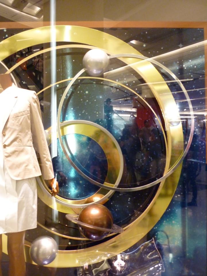 "Hermes Boutique ""Galaxy"" window theme in Bangkok"
