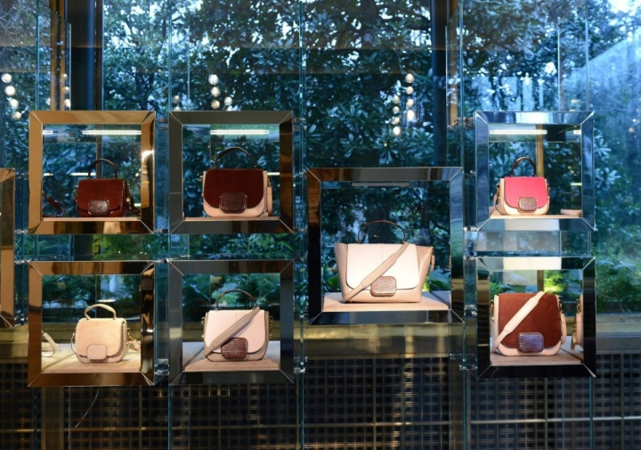 Tod's interior display at Villa Necchi Campiglio in Milan