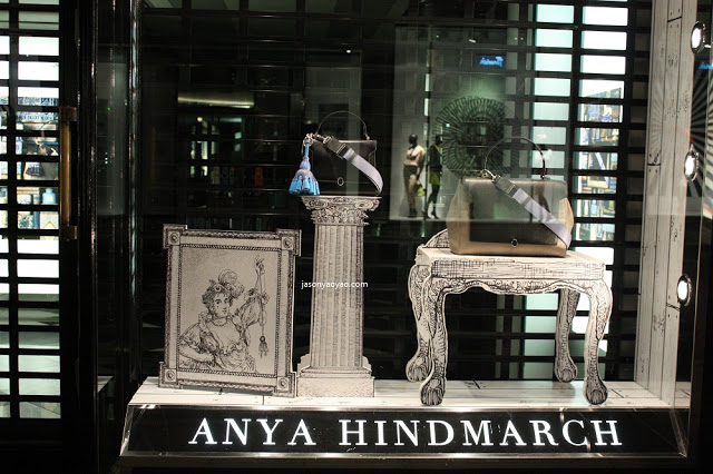 ANYA HINDMARCH shop windows IN BOND STREET