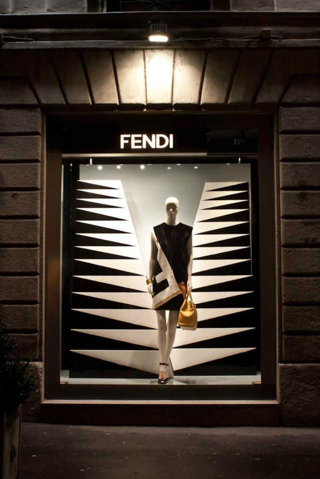 Fendi shop windows Milan