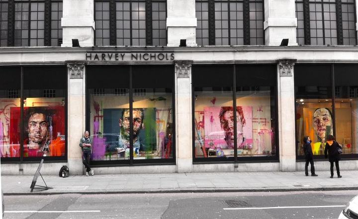 art and shop windows by Andrew Salgado for Harvey Nichols