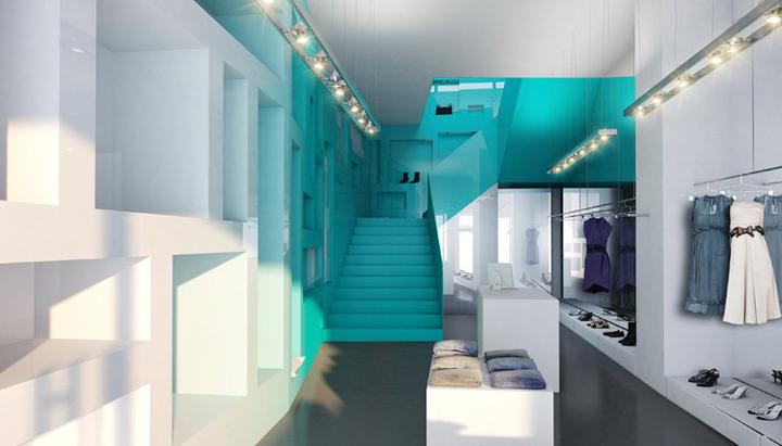 Inside Fashion Store by Söhne & Partner Architekten, Vienna