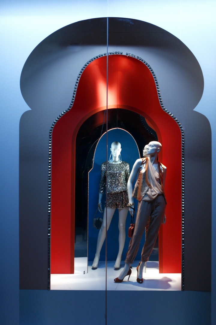 DVF windows visual merchandising