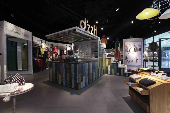 D'zzit fashion store design by Purge, China