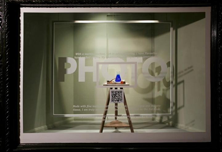 Interactive 'Scan to See' Window Display at Liberty London