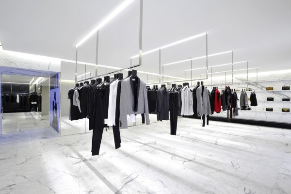 Saint Laurent's largest flagship store at Avenue Montaigne, Paris