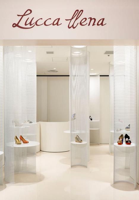 Lucca Ilena shoe store designed by Ryutaro Matsuura