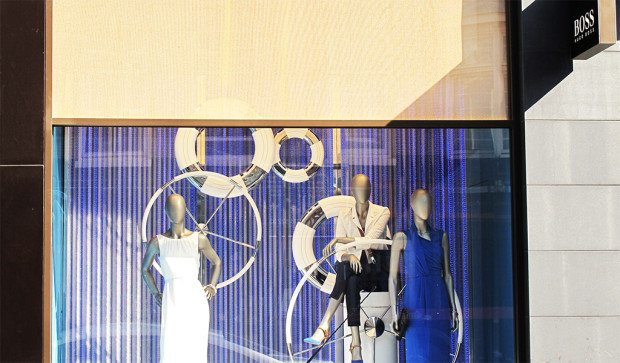 Hugo Boss 'Nautical Theme' Window Display Amsterdam