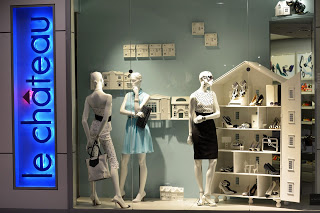Le Chateau shop windows concept-  Eaton Center Toronto