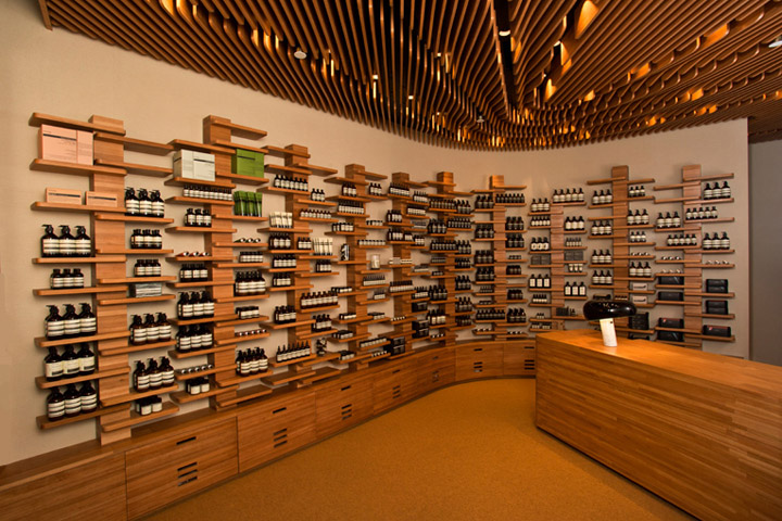 Aesop design by Nadaaa architects in IFC Mall