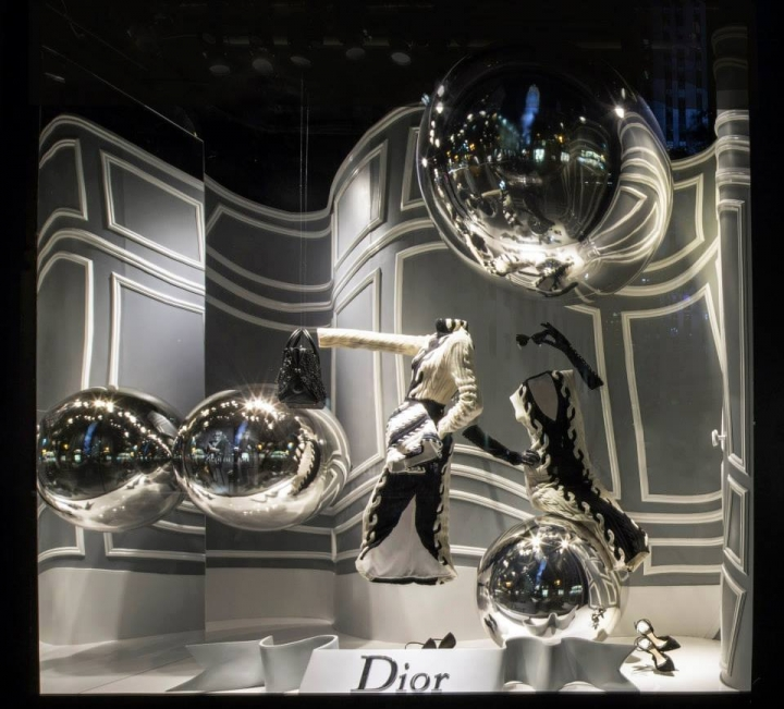Dior windows display for Saks